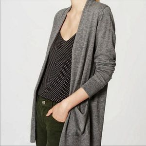 Loft Gray Open Front Cardigan with pockets
